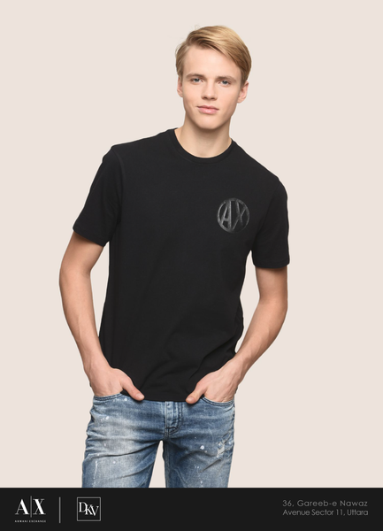 Armani Exchange Regular Black Tee