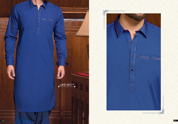 Junaid Jamshed Smart Fit Blue Salwar Kameez