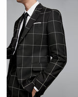 Zara Black white Checkered Blazer