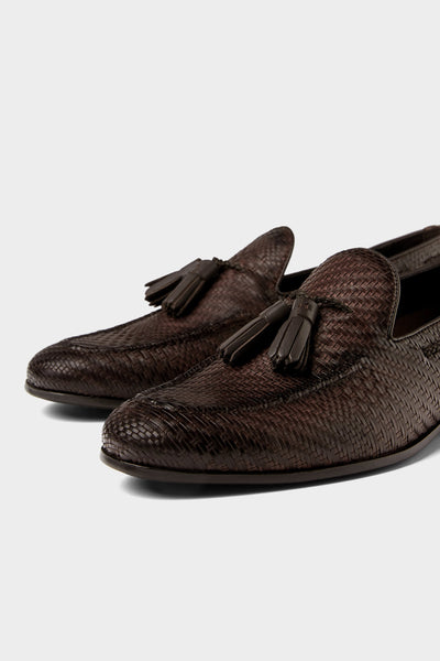 Zara Chocolate Tassel Loafer
