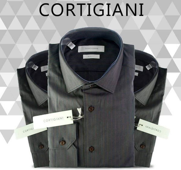 Cortigiani Full Sleeve Stripe Shirt