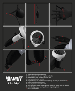 Mamut Grips³ inc velcro for HPG2
