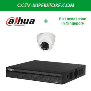 Dahua 1 x 1MP HD CCTV camera package with Full Installation in Singapore