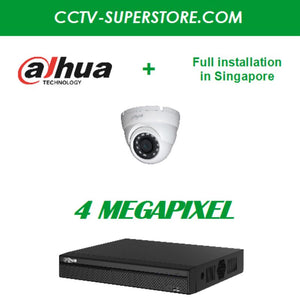 Dahua 1 x 4MP HD CCTV camera package with Full Installation in Singapore