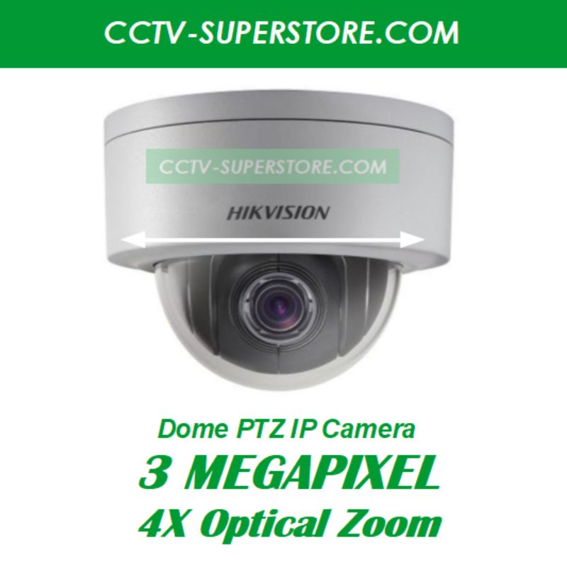 Hikvision 3 Megapixel (3MP) HD CCTV IP Network PTZ Camera & Optional Singapore Installation