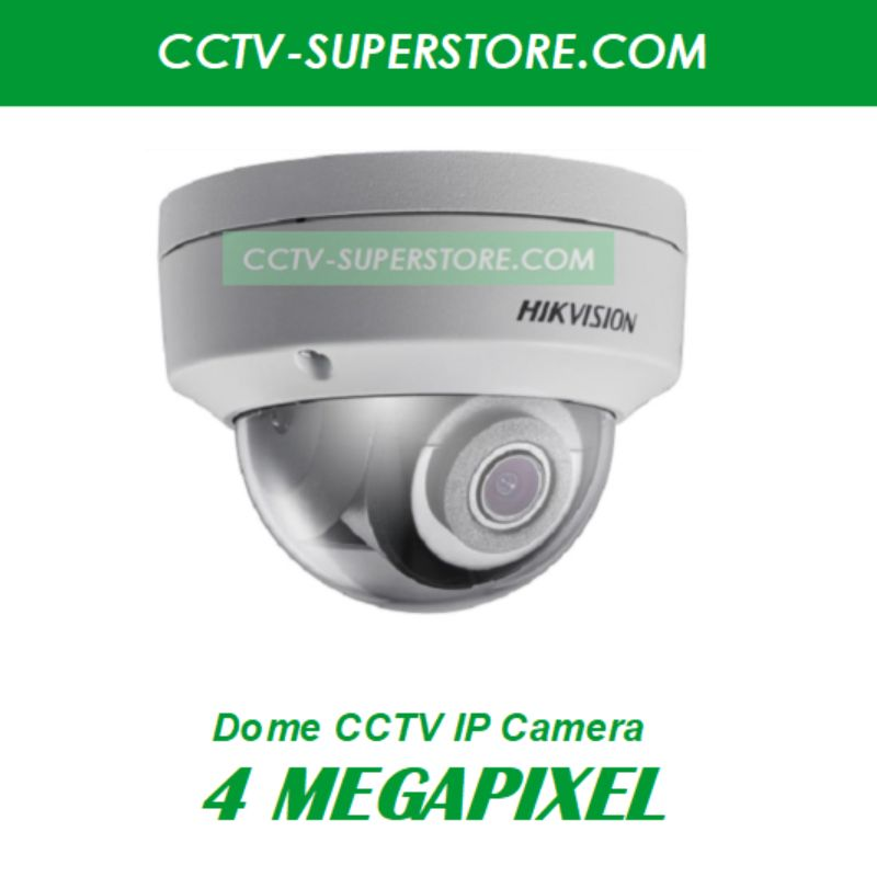 Hikvision 4 Megapixel (4MP) HD CCTV IP Network Camera, Fixed Lens & Optional Singapore Installation