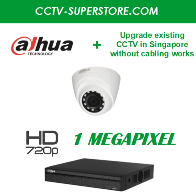 Dahua 1 x 1MP HD CCTV Camera Upgrade Package in Singapore, Setup for Remote Viewing