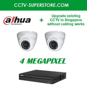 Dahua 2 x 4MP HD CCTV Camera Upgrade Package in Singapore, UHD Display Output, Setup for Remote Viewing