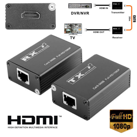 30m Wireless HDMI Transmitter Receiver | Pro HDMI Extender | HDMI Splitter | Support 1080P | 165MHz/165Gbps Single Channel Mayitr