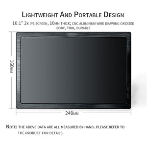 10.1 inch Portable Monitor | 2560*1600 FHD HDMI Monitor | LCD screen IPS Gaming Monitor | for Ps4 Xbox PC Computer Laptop