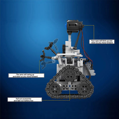 Image of 2.4G Remote Control Robot | Intelligent Electric RC Robot | DIY Unassembled Kit  Building Block Toy | For Kids Gift