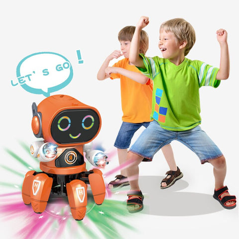 DIGITBLUE® Electric Six-claw Robot DIY Toy Arming Swing Dancing Fish Small Music Children Shaking  Educational Toys With Lights Toy Gift