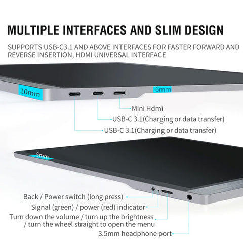 "Image of 15.6"" Ultra thin Portable Monitor 