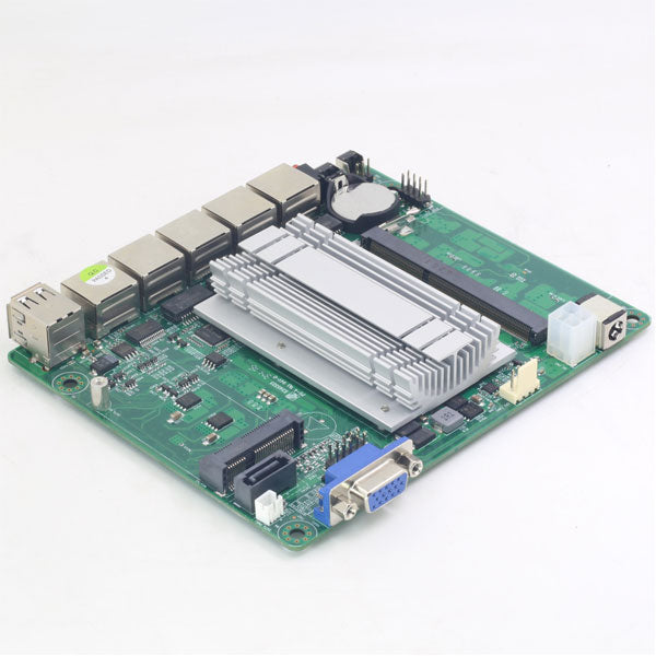 Pfsense Mini ITX Motherboard | Fanless Intel Celeron J1900 Processor | 4 Gigabit LAN Ports Intel NIC Apply | for Firewall Router