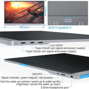 "15.6"" Touch Screen Portable Monitor 