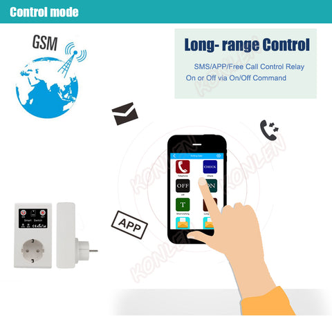 DIGITBLUE® 16A EU GSM Power Socket Remote Control Switch Relay Smart Intelligent Sockets Outlet 3000W SMS Call Android App Home Automation