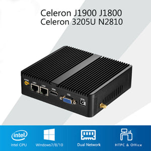 DIGITBLUE Portable Mini Gaming PC | Windows 10 Computer PC | Dual WIFI Antenna | HDMI 4K | Intel Celeron J1900 J1800 N2810 3805U | | Gigabit Ethernet 2x RS232 Ports | 4x USB pfSense