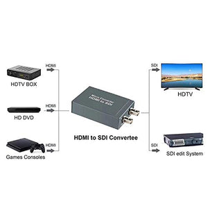 Digitblue HDMI to SDI Converter, Micro Converter One HDMI in Two SDI Output with Power, Audio Embedder Support HDCP 1.3, 3G/ HD/SD-SDI Video Converter Adapter, Support 1080P for Camera Home Theate