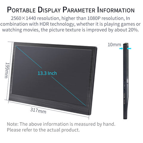 "DIGITBLUE®  Portable Monitor | 13.3"" inch Monitor 