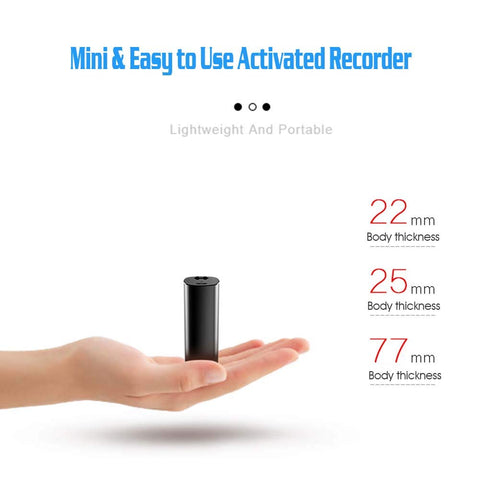 Mini Voice Activated Recorder, Digitblue 32GB Super Long 800 Hours Recording Capacity, 365 Standby Battery, Magnetic Hidden Audio Recorder, Professional Digital HD Voice Recorder