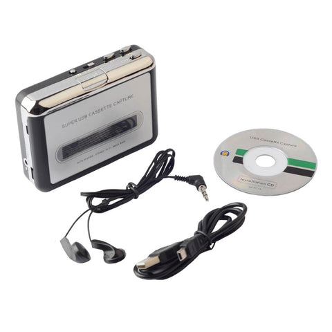 DIGITBLUE Cassette Player | USB Cassette to MP3 Converter | Capture Audio Music Player | Convert Music on Tape to Computer Laptop Mac
