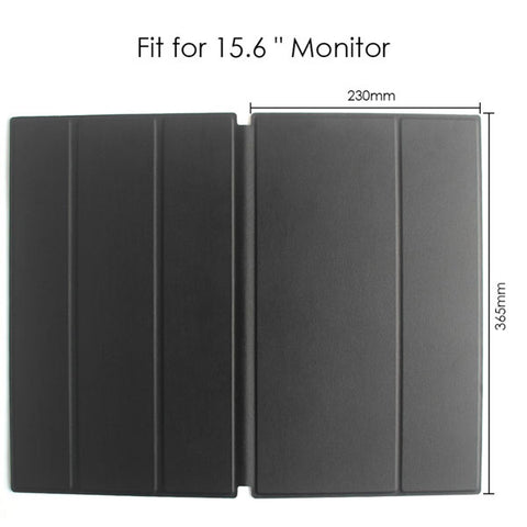 Image of Leather Case for Portable Monitor | Laptop Pad Smart Case | Protection and Show Case Stand Holder | with Sticker Easy to Carry