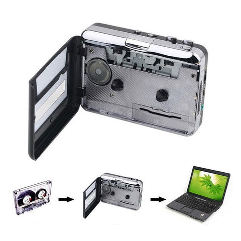 Image of DIGITBLUE Cassette Player | USB Cassette to MP3 Converter | Capture Audio Music Player | Convert Music on Tape to Computer Laptop Mac