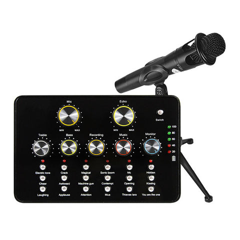 DIGITBLUE V10 USB Audio Sound Card | Microphone Portable Sound Card | Internet Entertainment Audio Sound Card | Personal Streaming Live Sound Card | Applicable To PC Phone