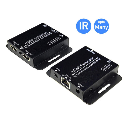 Digitblue HDMI Extender 196ft/60m Lossless Transmission Over Single cat5e/6 Support Full HD 1080P & 3D, Loop Out Option with IR Control, EDID Function
