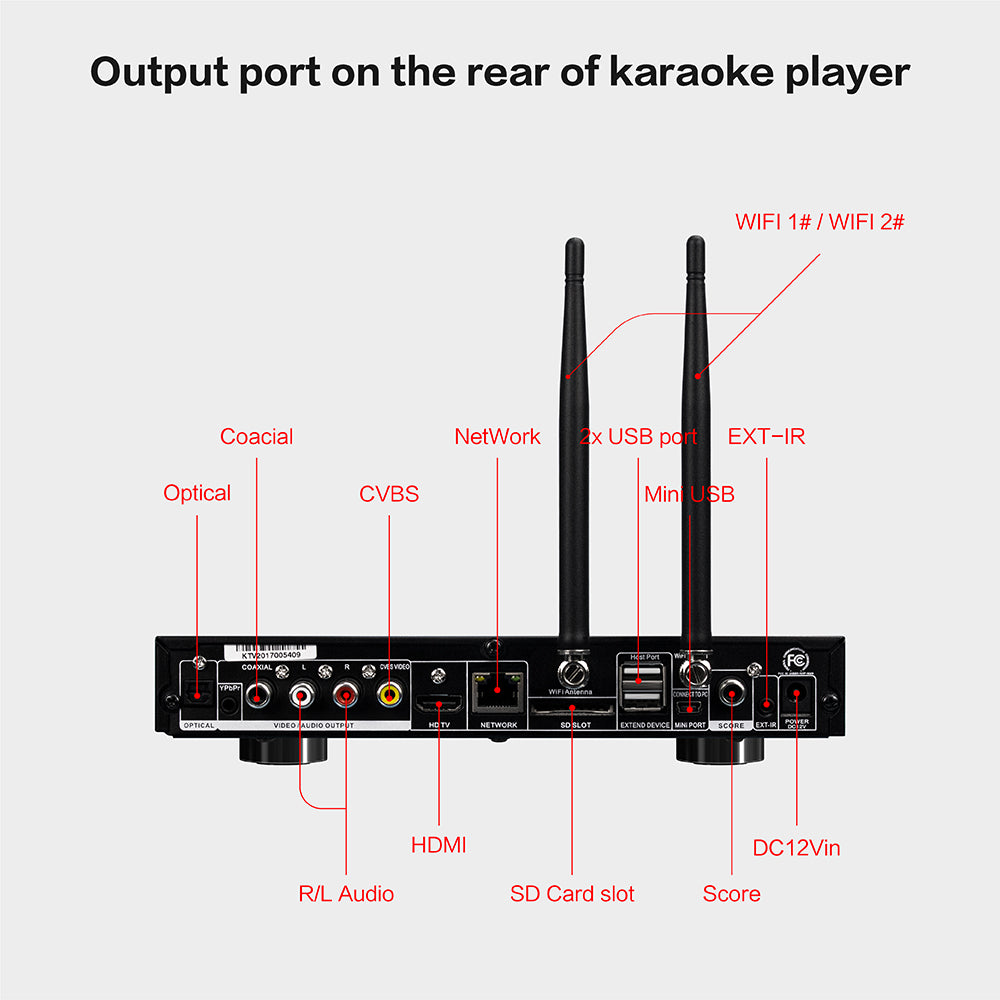 KHP-8816 Mini Android HDD/Cloud Karaoke Player | Karaoke Machine