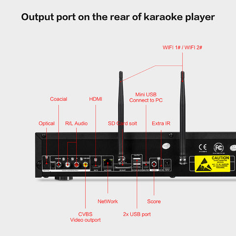 Image of KHP-8832 All-in-one Android HDD/DVD/Cloud Karaoke Machine | Karaoke Player
