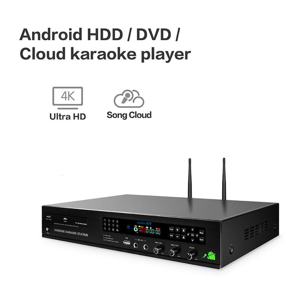 KHP-8832 All-in-one Android HDD/DVD/Cloud Karaoke Machine