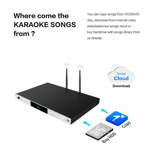 Image of KHP-8856 Android HDD/Cloud Karaoke Machine | Karaoke Player