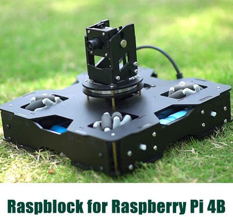 DIGITBLUE® Raspblock AI Smart Car AI Programming Educational Robot for Raspberry Pi 4B Artificial Intelligence Autopilot Projects