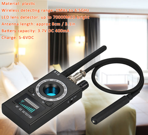 DIGITBLUE Multi-function Anti-spy Detector Camera | GSM Audio Bug Finder | GPS Signal Lens Tracker | Wireless RF Detector | 1MHz-6.5GHz