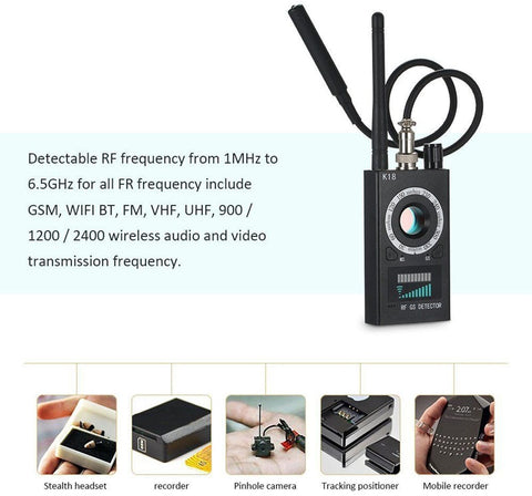 Image of DIGITBLUE Multi-function Anti-spy Detector Camera | GSM Audio Bug Finder | GPS Signal Lens Tracker | Wireless RF Detector | 1MHz-6.5GHz