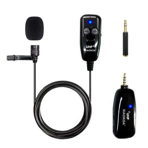Image of DIGITBLUE® UHF Lavalier Wireless Microphone | Recording Youtube Live Interview Mic | Noise Reduction Microphone | for iPhone Android PC