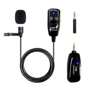 DIGITBLUE® UHF Lavalier Wireless Microphone | Recording Youtube Live Interview Mic | Noise Reduction Microphone | for iPhone Android PC