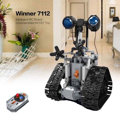 2.4G Remote Control Robot | Intelligent Electric RC Robot | DIY Unassembled Kit  Building Block Toy | For Kids Gift
