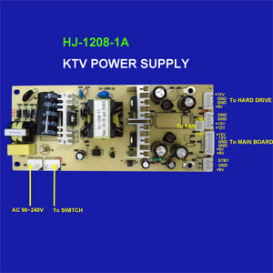 Power Supply for hard drive karaoke system