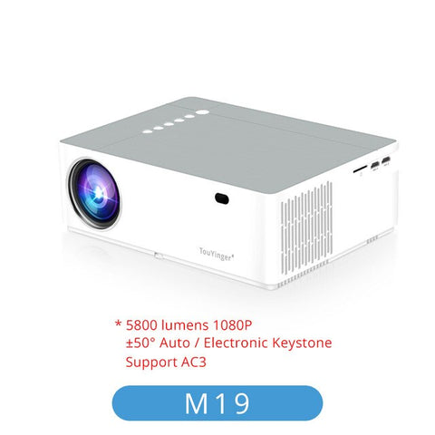 Image of TouYinger M19 Projector Full HD 1080P 5800lumen Support AC3 LED video Home Theater Full HD Movie Beamer Android TV Box Optional