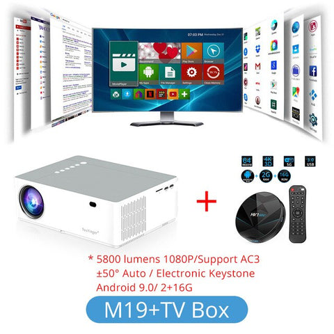 DIGITBLUE® M19 Projector Full HD 1080P 5800lumen Support AC3 LED video Home Theater Full HD Movie Beamer Android TV Box Optional