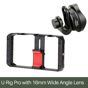 DIGITBLUE Pro Smartphone Video U-Rig | 3 Shoe Mounts Filmmaking Case | Handheld Phone Video Stabilizer | Grip Tripod Mount Stand