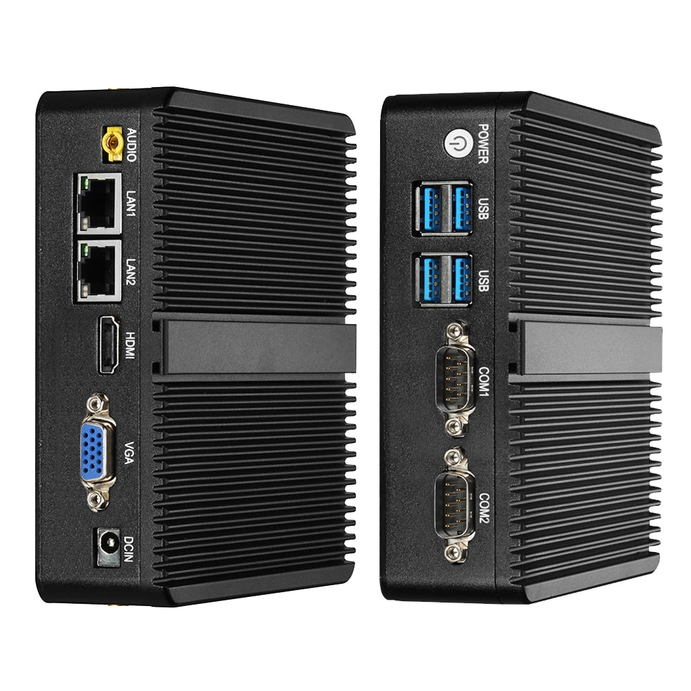 DIGITBLUE Mini PC | Windows 10 | Intel Celeron 2.41 GHz · 8 GB RAM · 120GB SSD | Mini Computer Dual WIFI | HDMI 4K | Gigabit Ethernet 2x RS232 Ports | 4x USB pfSense