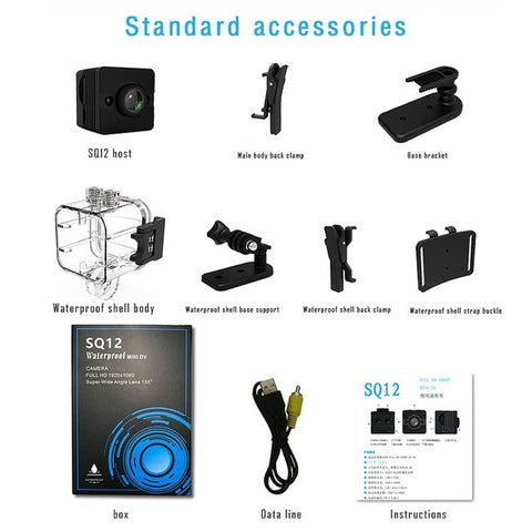 Original Mini Cam WIFI Camera SQ13 SQ23 SQ11 SQ12 FULL HD 1080P Night Vision Waterproof Shell CMOS Sensor Recorder Camcorder