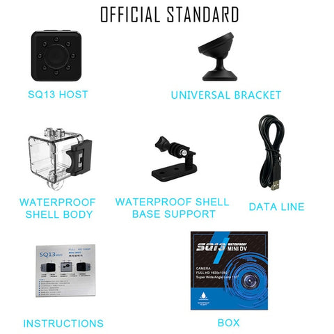 Image of Original Mini Cam WIFI Camera SQ13 SQ23 SQ11 SQ12 FULL HD 1080P Night Vision Waterproof Shell CMOS Sensor Recorder Camcorder