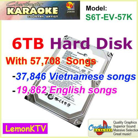 57,708 (Vietnamese & English) live Songs include 6TB hard disk in original quality for lemonKTV