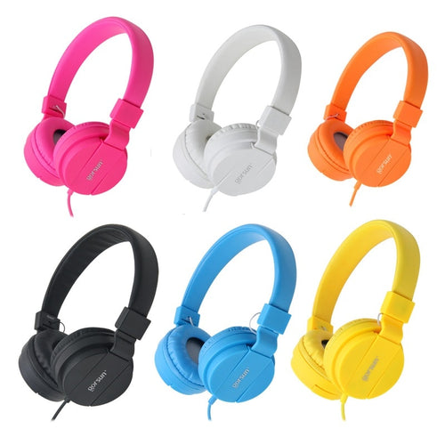 DEEP BASS Headphones Earphones 3.5mm AUX Foldable Portable Adjustable Gaming Headset For Phones MP3 MP4 Computer PC Music Gift