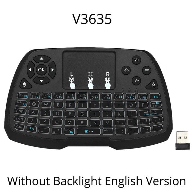 2.4GHz Wireless Gaming Keyboard RU/EN Mini Touchpad Air Mouse Handheld Remote Control Backlight for Android TV BOX Smart TV LOL