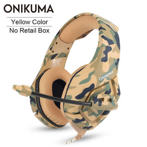ONIKUMA K1 casque Gaming Headset PC Gamer Stereo Earphones Headphones with Microphone for PS4 New Xbox One Gamepad Laptop Tablet